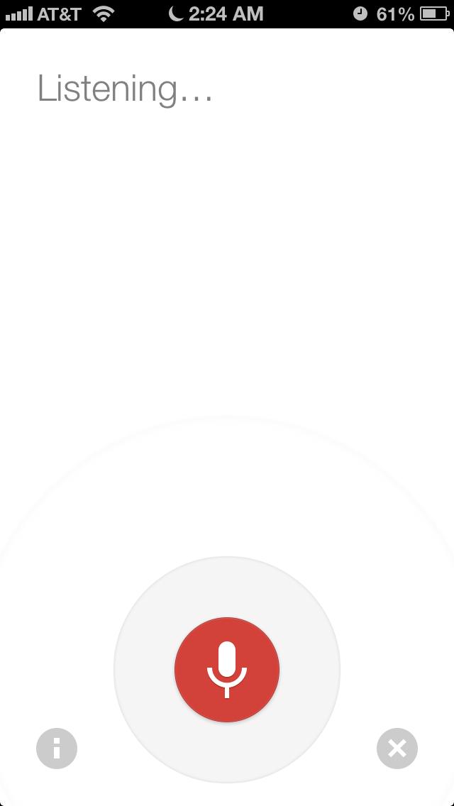 Google Voice Search.